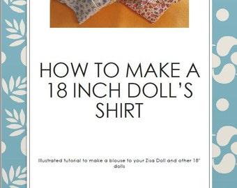 "18"" Doll's shirt sewing pattern+tutorial"