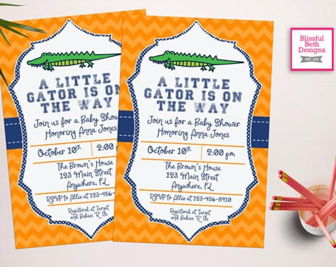 GATOR BABY SHOWER Gator Baby Shower Invitation, Florida Baby Shower Invitation, Gator Shower, Gator Invitation, Florida Baby Shower, Gator
