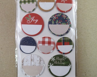 "200 Piece Planner Sticky Notes Christmas Theme Round  1-2"" Circles A"