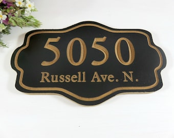 Address Sign Custom - Outdoor Address Sign - Personalized Address - Outdoor Sign - Carved Address Sign - Homeowner Gift - House Sign - Signs