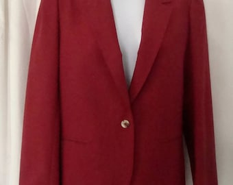 1970s Vintage LN Womens COUNTRY SUBURBANS Brick Red, Fully Lined Blazer Jacket Sz 10