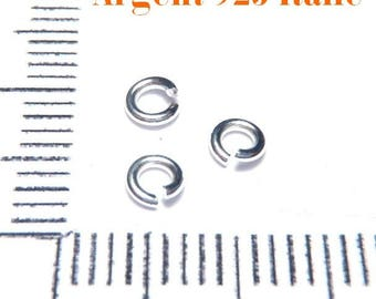 10 rings 3 mm 925 sterling silver handcrafted in Italy
