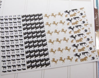 Washi Tape Like Size Planner Horse Planner Stickers Stickers Calendar Stickers Reminder Stickers PS55c Fits Erin Condren Planners