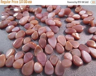 ON SALE 20% OFF Pink Shell Flat Teardrops Beads 100pcs