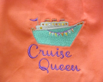 Cruise Queen Vest-Gorgeous Apricot Color-Sz XL-Embellished Vest for Your Next Cruise