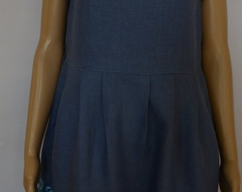 Linen summer dress.