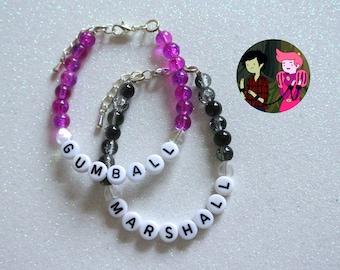 Marshall & Gumball OTP Bracelet Set - Adventure Time / Marshall Lee Prince Gumball