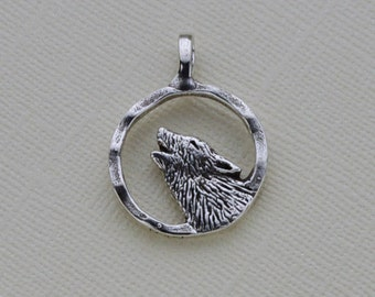 Howling Wolf, Sterling Silver