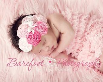 baby headband, newborn headband, Pink Headband, Pink Fabric Headband, Baby Headband, Birthday Headband