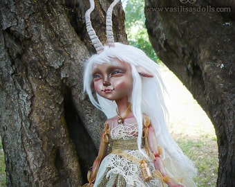 "OOAK Art Doll, Winter Faun Faery ""Bimbi"""