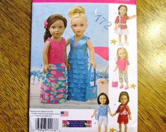 "DESIGNER Resort Wear / Fun Beach Separates & Accessories / DIY Doll Clothing for 18"" Dolls - UNCUT ff Sewing Pattern Simplicity 1178"