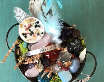 Addiction Recovery Crystal Kit, Healing Crystals, Get Well Gift, Recovery Gift, Spiritual Gift, Metaphysical Crystals, Natural Crystals