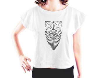 Owl shirt women graphic shirt animal tshirt instagram top hipster t shirt quote t shirt women t shirt ladies tee crop top crop shirt size S