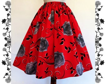 1950's Vintage Inspired Full Skirt  Rockabilly