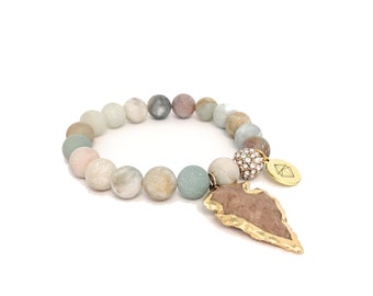 Amazon Jasper Arrowhead Bracelet