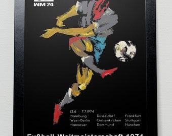 World Cup 1974 poster - Deutschland 74