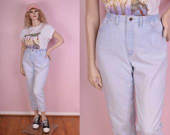 90s Light Wash Mom Jeans/ US 10/ 1990s