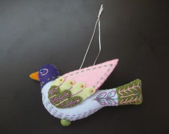 Felt Colly Bird from Twelve Days of Christmas