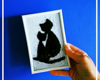Cats love in glass-cat love-decoration-cat