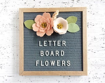 NEW Felt Letter Board Flowers - Add-ons for Felt Letter Boards - Decor for Photo Props, Parties, Showers and Every Day - Guava / Peach