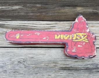 Distressed Wooden Atlanta Braves tomahawk sign