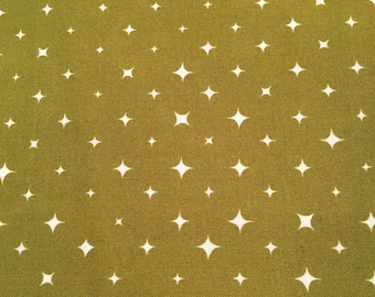 We are All Stars Olive Green Certified Organic Cotton from Birch Fabrics