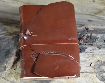 "Leather Journal, handmade, 5X7"", Rustic"
