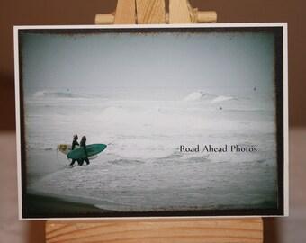 ACEO, ATC, photograph, surfer girls, beach, ocean, surf