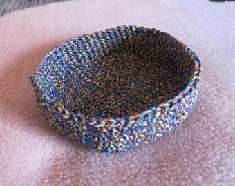Utensilo Basket Crochet CA 19 x 5 cm/Round