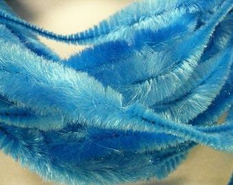 Retro Bump Chenille Caribbean Blue 4 inch bump