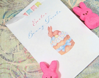 Easter Treat Bags - Easter Party Loot Bags - Personalized - Goodie Bag - Set of 25 - Trending - Printed Paper Bag - Easter Bunny Cupcake