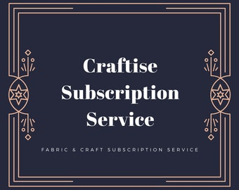 Small Fabric and Craft Subscription Bag, Monthly Subscription Service, Subscription Box for Crafters