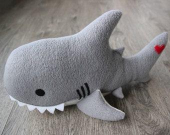 Shark Plush, Shark Stuffed Animal, Stuffed Shark, Shark Toy, Sea Animals, Ocean Animals, Great White Shark, Baby Shower, Baby Girl, Baby Boy