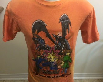 Vintage Yu Gi Oh T shirt Size Youth XL Adult Small 1990s