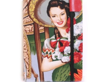 Kindle Cover - Spanish Senorita - Kindle 4 or 5 cover - eReader hardcover case