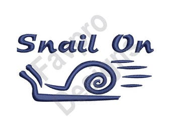 Snail On Outline - Machine Embroidery Design