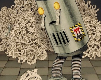 "Sad Robot Print, ""The Next Stage"""