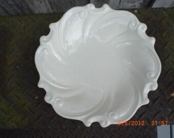 White Swirl Ceramic Bowl