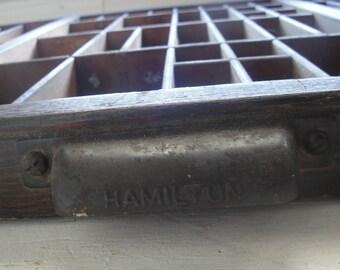 Vintage Hamilton Printers' Drawer Large