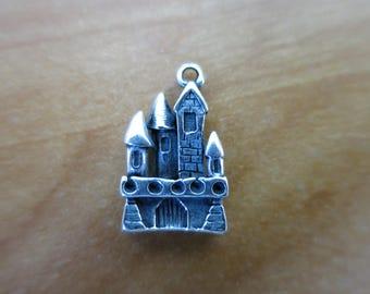 Silver Castle charm