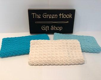 Oversized Farmhouse Cotton Crochet Wash Cloths