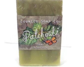 Patchouli Soap, Essential oil soap, Natural Soap,