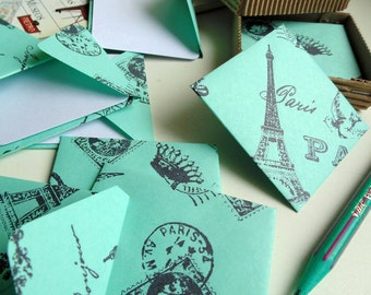 Green Paris Mini Stationery Set