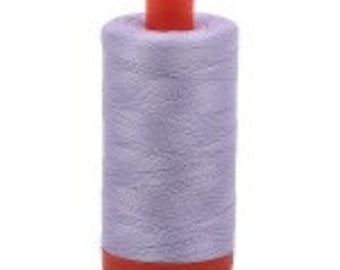 Iris Aurifil Mako Cotton Thread Color 2560, 50 wt, 1300m, 1 spool Light Purple, violet, purple pastel cotton quilting thread