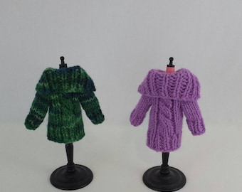 Blythe doll Demelza Cardigan Sweater knitting PATTERN - cable cardigan for Neo Blythe - instant download - permission to sell finished items