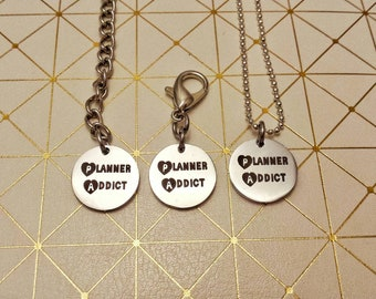 Planner Addict Charm// Planner Accessories// Travellers Notebook Charm