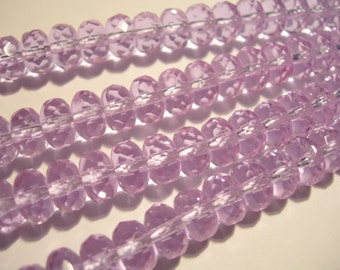 25 beads - 8x6mm  Color Changing Alexandrite Czech Fire polished Rondelle beads