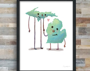 Michigan BFF art print