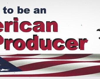 Proud to be an American Pork Producer Farm Bumper Sticker Pig Hogs USA FARMING