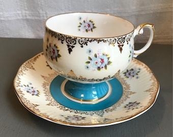 Rosina pedestal teacup and saucer